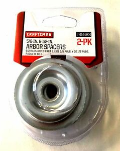 """CRAFTSMAN 5/8"""" BENCH GRINDER ARBOR SPACERS FOR WIRE BUFFING WHEELS 935688"""