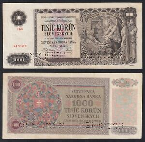 Slovakia 1000 korun 1940 Specimen SPL/XF P.13s  B-07