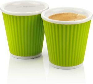 Les Artistes 2 Cup Tea Coffee Silicone 100 ml Dishwasher Safe Green LA0622