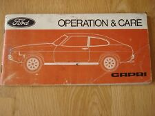 FORD CAPRI - OPERATING & CARE - DRIVER'S MANAUL