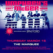 Umphrey'S Mcgee / Spafford Phoenix 2017 West Coast Tour Concert Poster-Jam Music