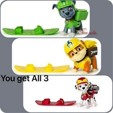 Paw Patrol New Hero Series SnowBoard Rocky~Marshall~Rubble Action Pack Pup New