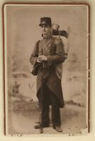 Militar Uniforme Lang Montélimar CDV Francia Foto Vintage Citrato