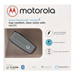 NEW Motorola HK375 Mono Bluetooth In-Ear Headset Alexa Built in Enabled ⚪️Silver