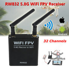 5.8G 32CH AV Audio/Video Wireless WiFi to Receiver RX FPV For IOS Android iPhone