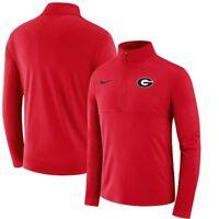 Nike Georgia Bulldogs UGA Dri-Fit Men's Half-Zip Pullover Jacket Red $70 NWT