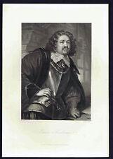 Ottavio Piccolomini  - Schiller's Play Wallenstein  -1883 Steel Engraving
