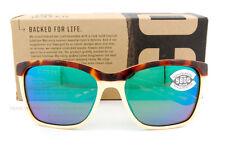4f6ad23b69009 New Costa Del Mar Fishing Sunglasses ANAA Tortoise Green Mirror 580G  POLARIZED