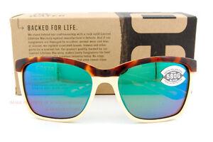 New Costa Del Mar Fishing Sunglasses ANAA Tortoise Green Mirror 580G POLARIZED