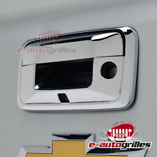 Chrome Tailgate Door Handle Cover W/Camera Hole for 2014-2017 GMC Sierra 1500