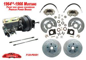1964 65 66 Ford Mustang Drum to Power Disc Brake Conv Kit, Premium Automatic kit