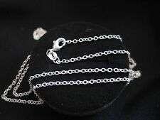 """Necklace 925 Sterling Silver """" O """" Chain 65cm x 2mm Beautiful Gift Idea NEW"""