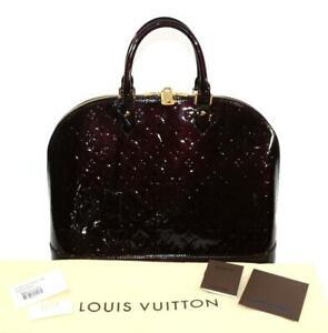 Louis Vuitton Amarate Alma Vernis GM Monogram Handbag Bag M93595 PRISTINE $3100