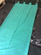 Vert Chenille non doublée, onglet rideaux à jamais utilisé. 1.62 M X 1.84 M