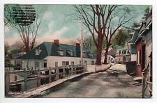 CANADA carte postale ancienne QUEBEC Champlain road   route