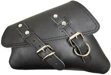 D Leather Black Leather Harley Sportster Nightster 883 48 Left Mount Saddlebag