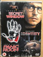 Johnny Depp SECRET WINDOW / IDENTITY / PANIC ROOM ~ Triple Bill | UK DVD