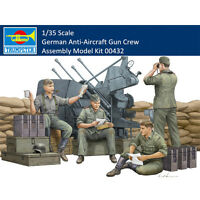 Trumpeter 00432 1/35 Scale German Anti-Aircraft Gun Crew Assembly Model Kits