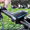 Recargable USB LED MTB Bicicleta Cabeza Luz Linterna Con / Altavoz Impermeable