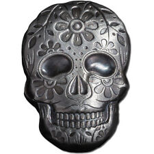 2 oz Monarch Poured Silver Day of the Dead Sugar Skull 999 Ag Art Bar Round 777