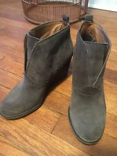 BCBG Generation Mushroom Gray Ankle Boots Booties Wedge Heel 9