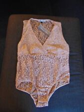 Dare to Bare V-Neck Sheer Floral Lace Body 14 Amande BNWT