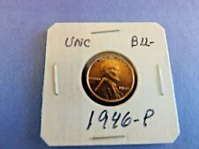 COIN= ONE NICE 1946-P LINCOLN WHEAT COPPER CENT IN UN CIRCULATED B.U. CONDITION