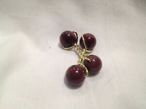 Designer Gold and Purple Mookaite Jasper Stone Double Cufflinks