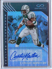 2016 INFINITY CURTIS MARTIN AUTO # 01/15 EXALTED AUTOGRAPHS NEW YORK JETS ROOKIE