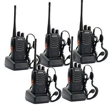 5 Pack Walkie Talkie 2 Two Way Radio Handheld Long Range Marine Police Frs GMRS