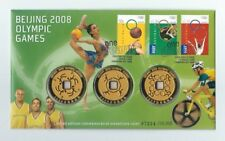 2008 BEIJING OLYMPIC GAMES 3 MEDALLION FDC PNC