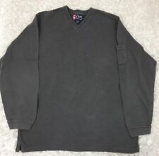 Vintage Ralph Lauren Chaps V-neck Thermal T Shirt Long Sleeve Gray Mens Large