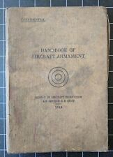 Handbook of Aircraft Armament 1918 Bureau Aircraft Production Illustrated Lewis