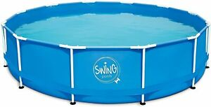 well2wellness® Framepool Pool Frameschwimmbecken Swing blau 3.66m x 91cm