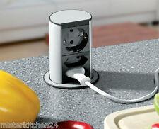 3-fach//4-fach Tischsteckdose Küchensteckdose Steckdosenleiste Einbausteckdose