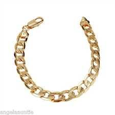18K Yellow Gold Filled Curb Chain Bracelet (B-232)