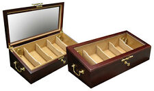 Prestige Import Group Modena Glass Top Countertop Cigar Humidor Display