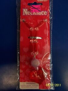 Valentine's Day Holiday Party Favor Toy Big Heart Light Up Necklace