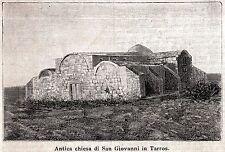 CABRAS: San Giovanni di Sinis: Chiesa Paleocristiana. Oristano. Sardegna. 1899
