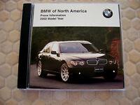 BMW OFFICIAL 3 5 7 SERIES M3 M5 ROADSTER Z3 Z8 X5 PRESS CD BROCHURE 2002 USA Ed