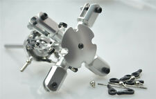 Silver Flybarless 4 Blades Quad Bladed Rotor Head For T-rex 450 Heli Helicopter