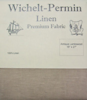 Wichelt Permin PREMIUM LINEN FABRIC 32 Ct Cross Stitch 18 x 27 ANTIQUE LAMBSWOOL