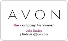 Personalised Avon Cosmetic Product Stickers Labels Address - Rectangle