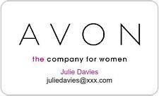 Personalised Avon prodotto cosmetico Adesivi Etichette Indirizzo-RETTANGOLO