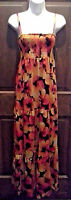 (NWT) Sofia Vergara  Size X-Small Smocked Orange & Floral Dress Retails @$29.99