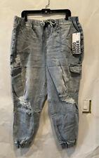 Almost Famous Jean Cargo Jogger Pants Womens Plus Size 2X