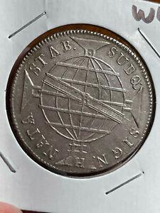 Brazil 1815 Silver 960 Reis Nice Overstrike W43