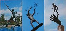 3 AK Kunstkarten  Skulpturen von  Millesgarden  Stockholm    N100