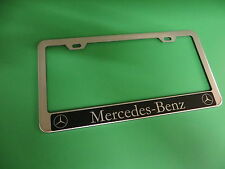"""(1pc)"""" MERCEDES-BENZ HALO """" C/E/CLS/S CLASS Stainless Steel license plate frame"""