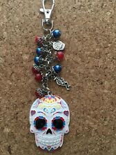 Day Of Dead Purse Charm Day Of The Dead Keychain